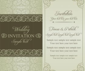 Simple wedding vector invitation card