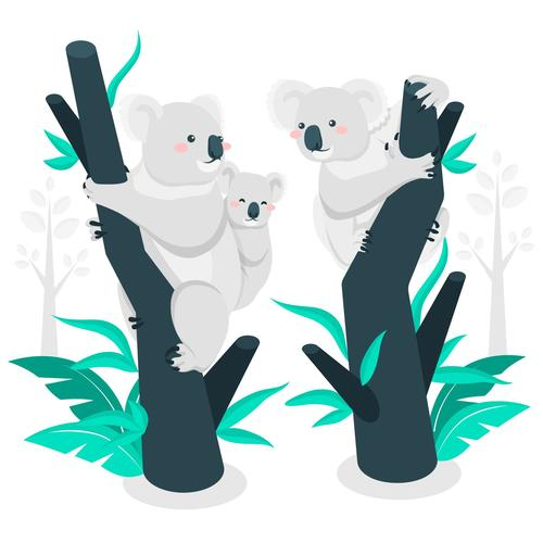 Sloth family illustration vector