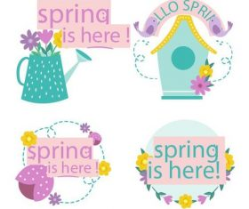 Spring is here collection vector