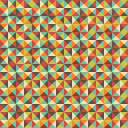 Square grunge background pattern vector