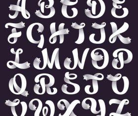Star white alphabet decoration design vector