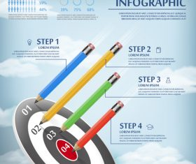 Successful goal concept infographic vector