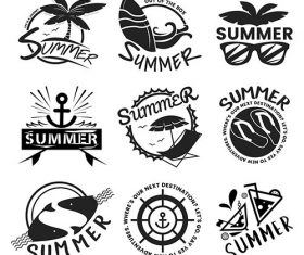 Summer and holiday typography illustration vector