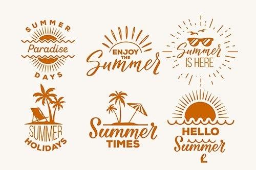 Summer labels set vector