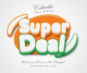 Super deal text effect vector