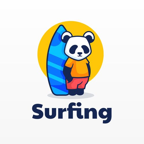 Surfing icon design vector