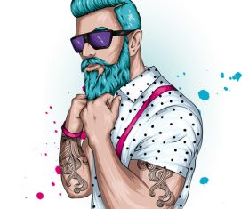 Tattoo men vector