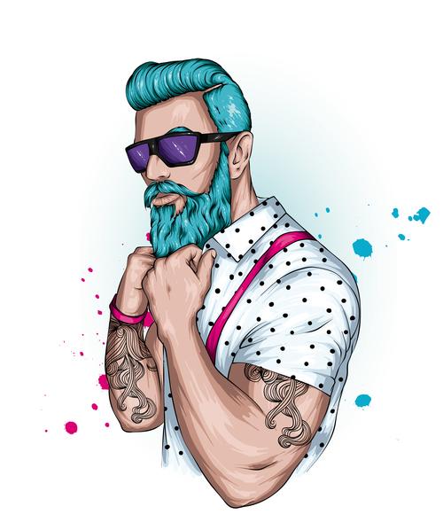 Tattoo men vector