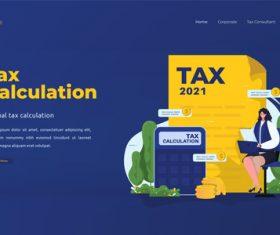 Tax calculation illustrations vector