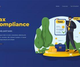 Tax consultation illustrations vector
