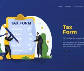 Tax form illustrations vector