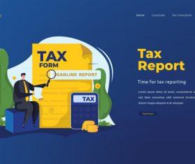 Tax report illustrations vector