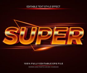 Text effect editable super vector