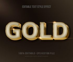 Text effect editable vector