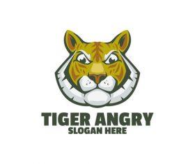 Tiger angry logo vector