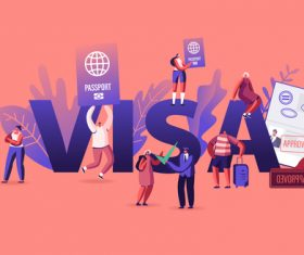Titans posters visa illustration vector