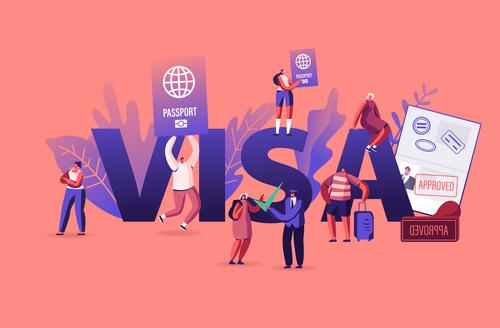 Titans posters visa illustration vector