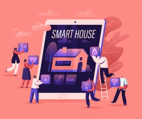 Titans smart home illustration vector