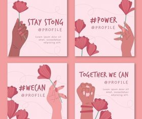 Together we can instagram posts vector