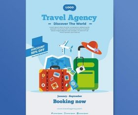 Travel poster concept vector