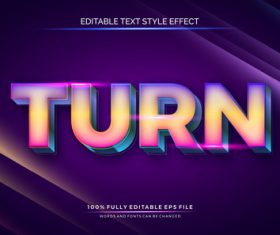 Turn text effect editable vector