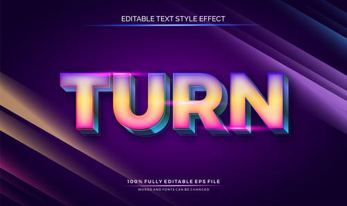 Turn text effect editable vector