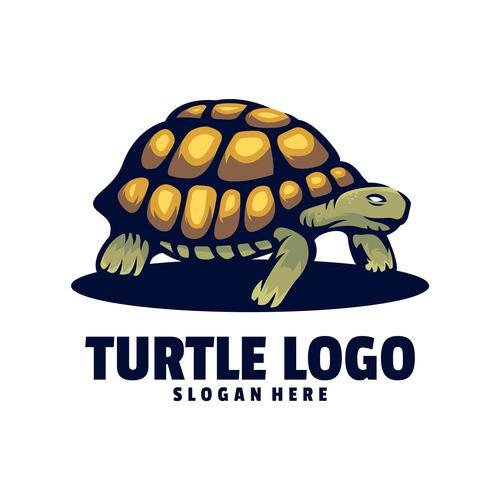 Turtle logo design vector
