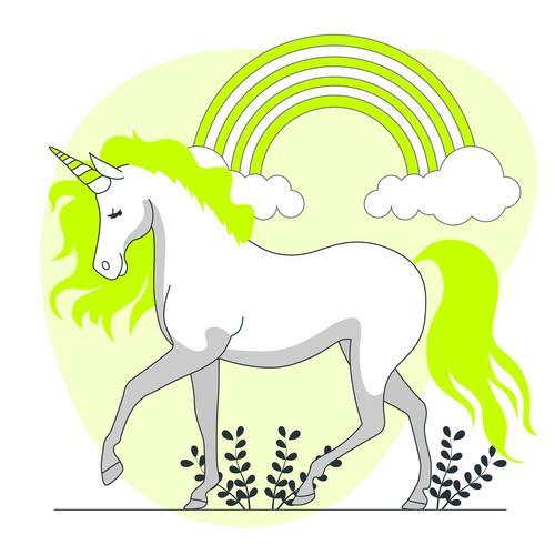 Unicorn hand drawn illustration vector