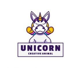Unicorn icon design vector