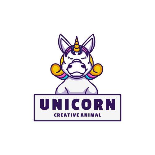Unicorn icon design vector