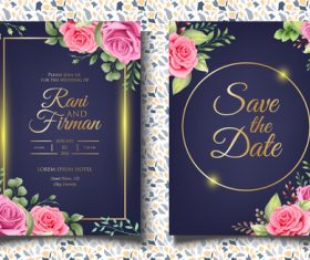 Unique wedding invitation card vector
