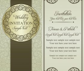 Unique wedding vector invitation card