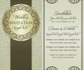 Unique wedding vector invitation card