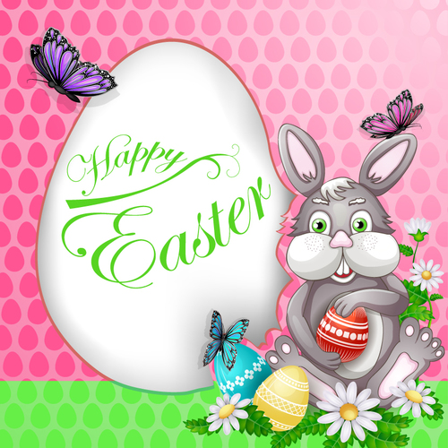 Vector illustration with Easter elements