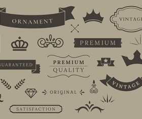 Vintage premium quality design element vectors