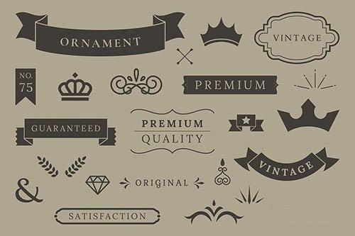 Vintage premium quality design element vectors
