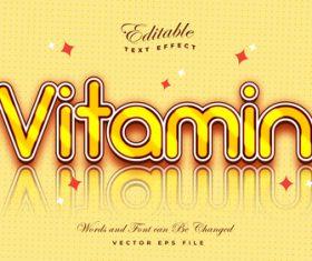 Vitamin font 3d editable font text effect vector