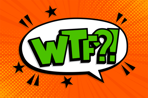 WTF comic style zoom pattern vector