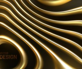 Wavy golden abstract background vector