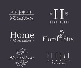 Wedding monogram logo templates collection vector
