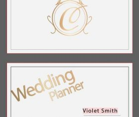 Wedding planner business card vector