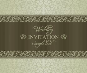 Wedding vector invitation card