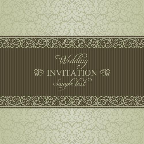 Wedding vector invitation card
