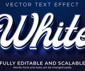 White 3d effect text design vector
