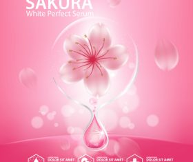White sakura perfect serum vector