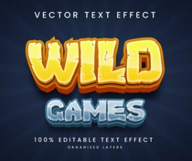 Wild games diet text effect editable vector