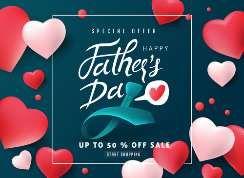 Wish fathers day vector