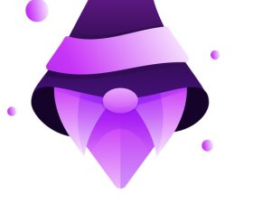 Wizard gradient logo vector