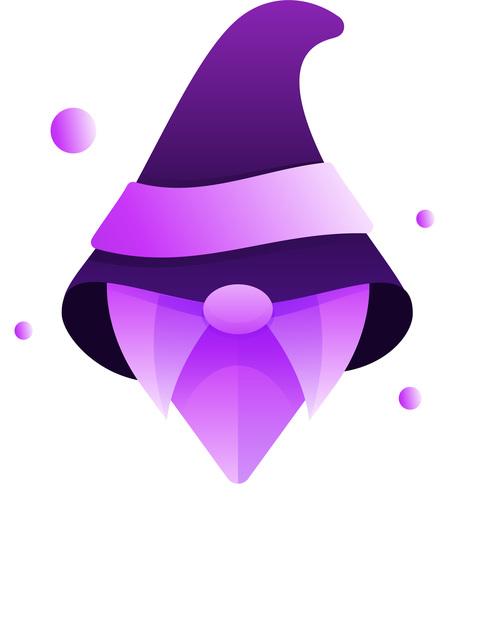 Wizard gradient logo vector