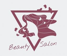 Womens beauty salon logo vector